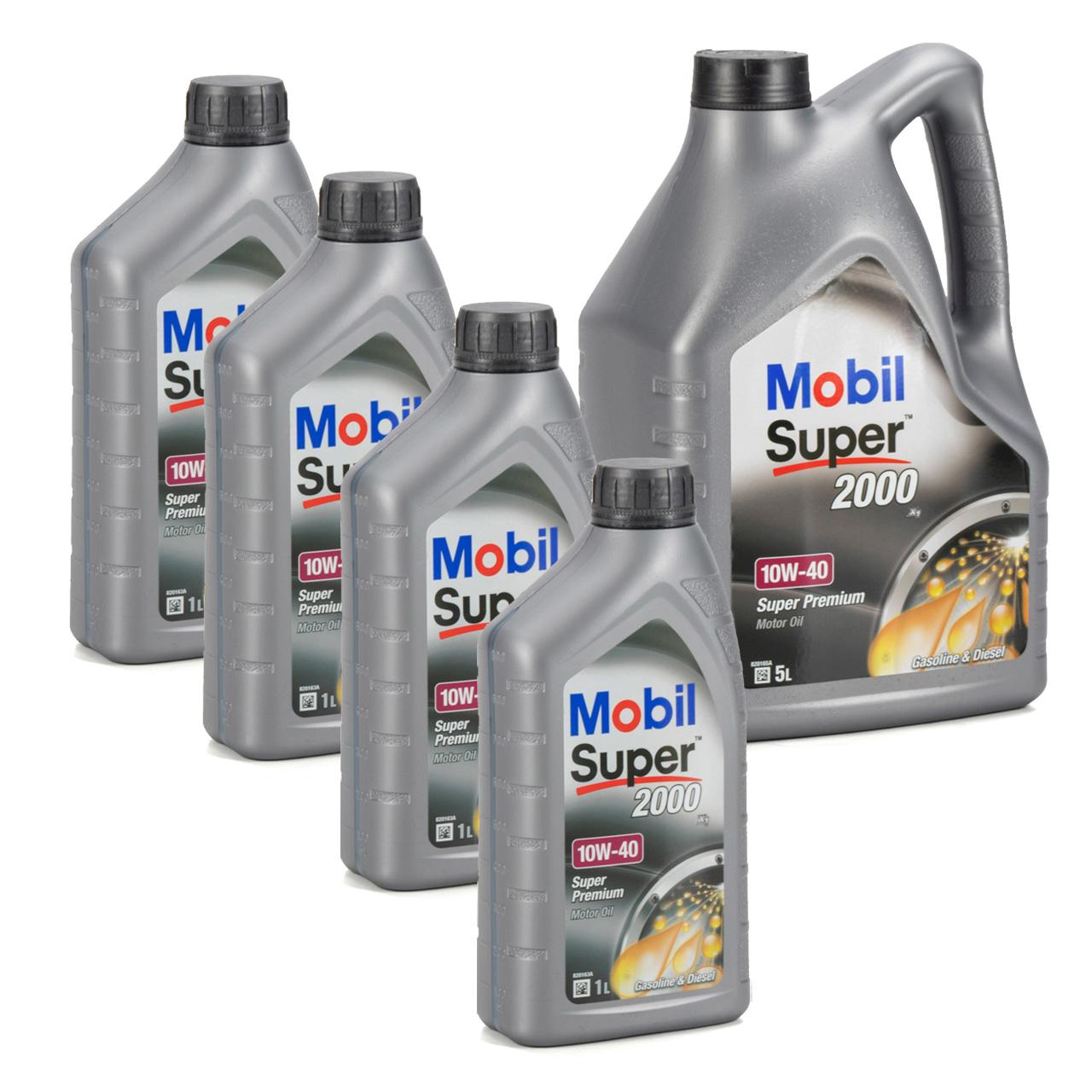 Mobil SUPER 2000 X1 10W40 Super Premium Motoröl Öl VW 501.01/505.00 - 9L 9 Liter