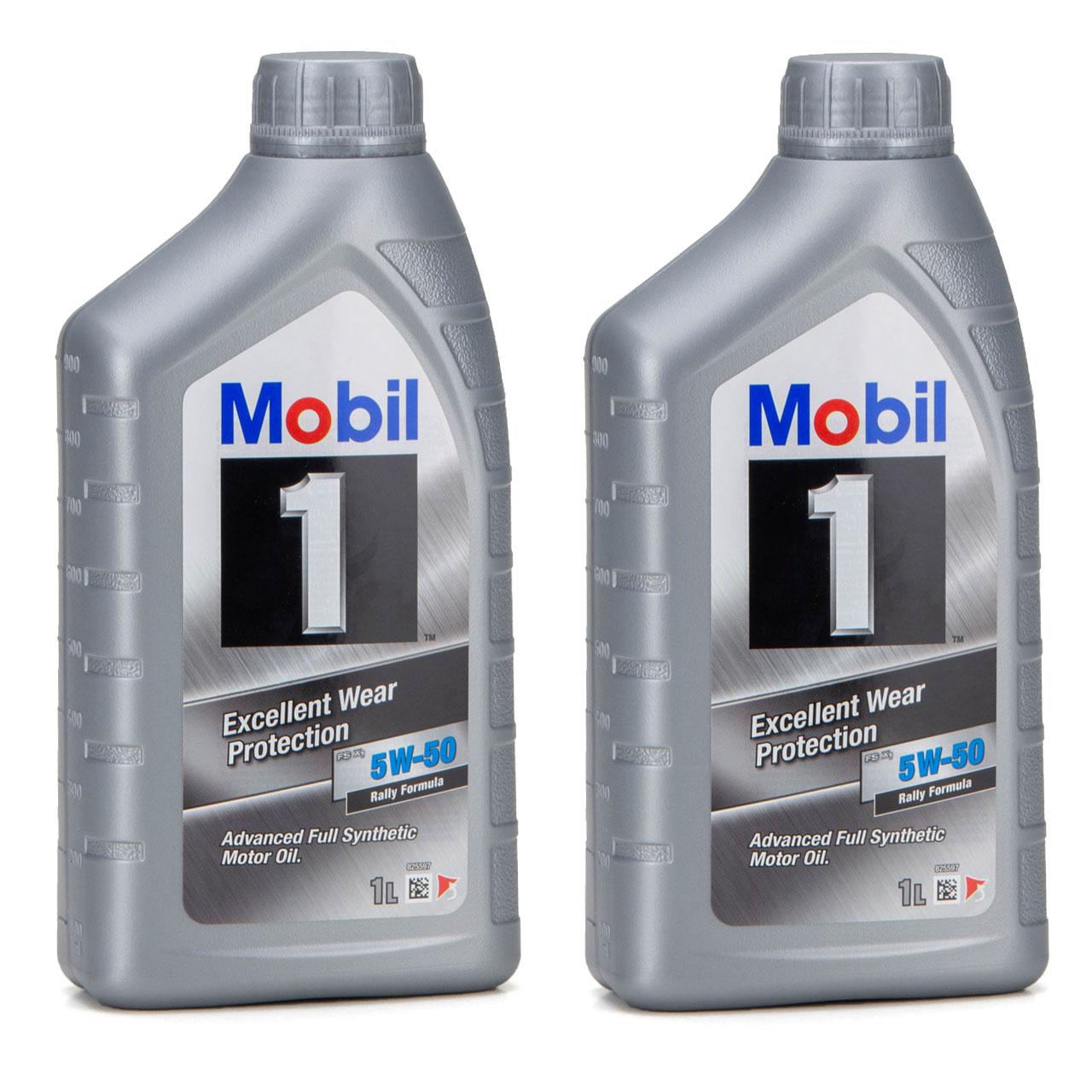 Mobil 1 FS X1 Motoröl Öl 5W-50 5W50 PORSCHE A40 MB 229.3 / 229.1 - 2L 2 Liter