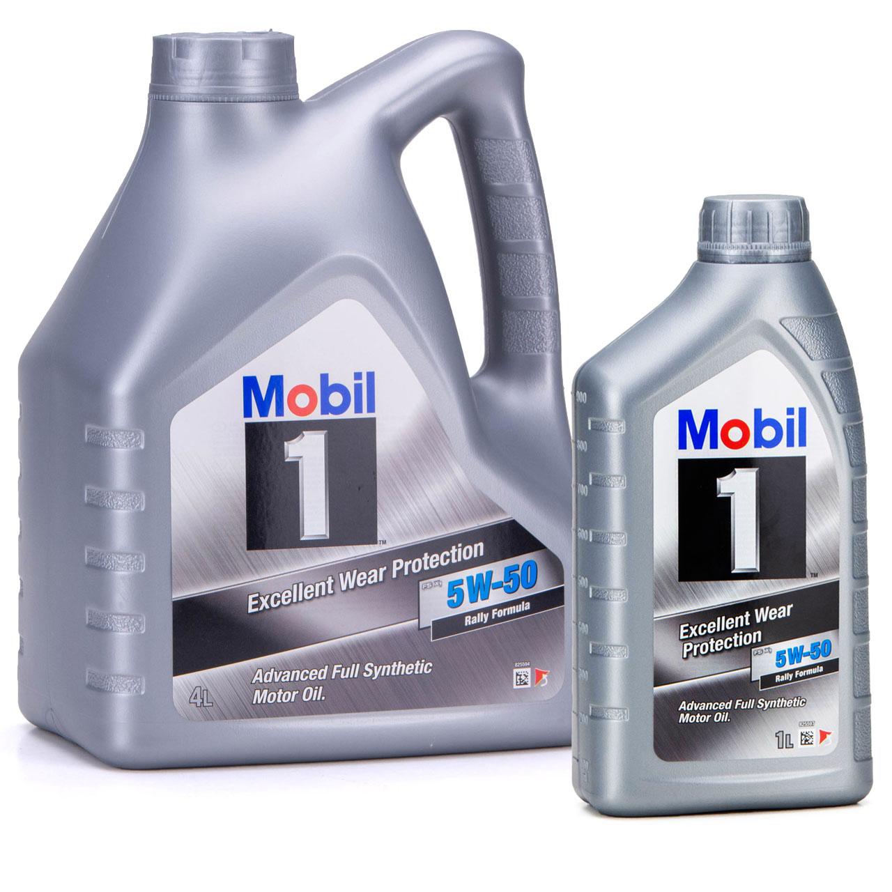Mobil 1 FS X1 Motoröl Öl 5W-50 5W50 PORSCHE A40 MB 229.3 / 229.1 - 5L 5 Liter