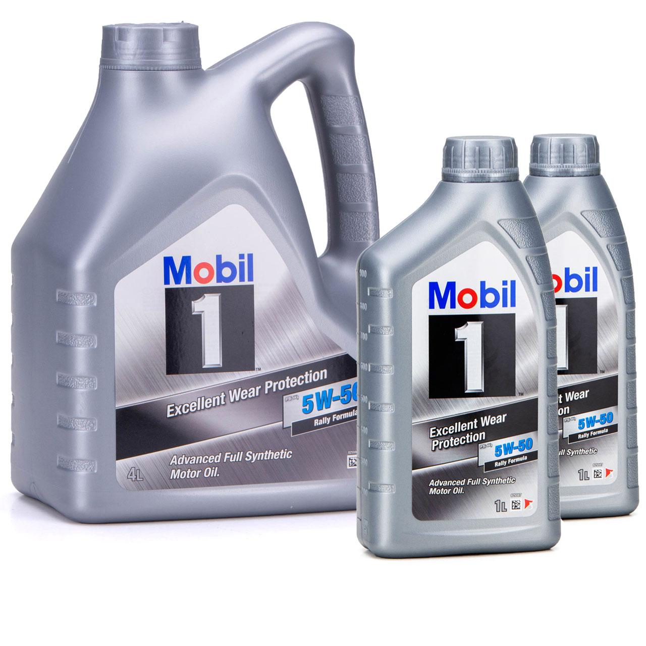 Mobil 1 FS X1 Motoröl Öl 5W-50 5W50 PORSCHE A40 MB 229.3 / 229.1 - 6L 6 Liter