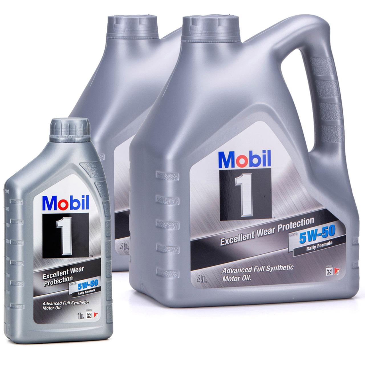 Mobil 1 FS X1 Motoröl Öl 5W-50 5W50 PORSCHE A40 MB 229.3 / 229.1 - 9L 9 Liter