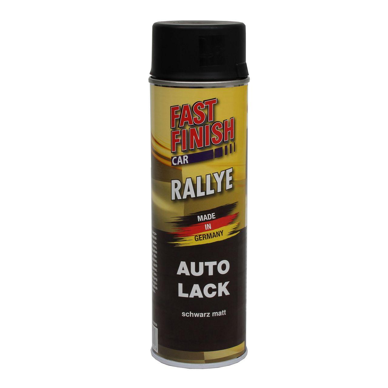 FAST FINISH Rallye Autolack Lackspray Schwarz Matt Spraydose 500ml 292828