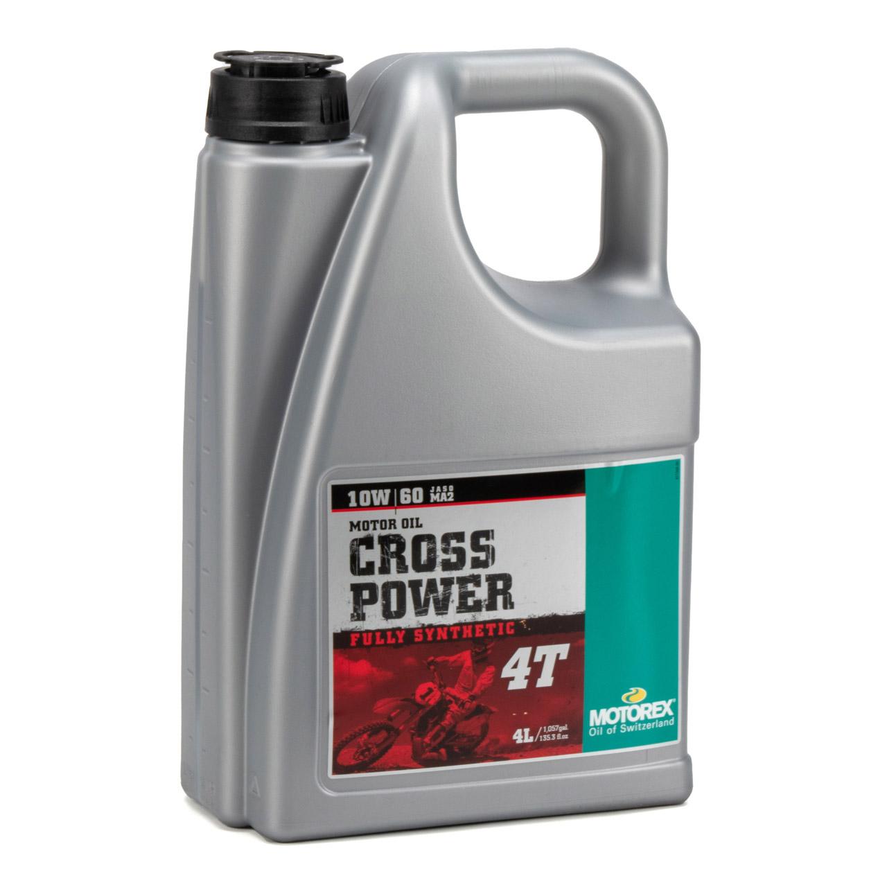 MOTOREX Cross Power 4T Motoröl Öl 10W60 JASO MA2 API SL/SH/SG - 8L 8 Liter