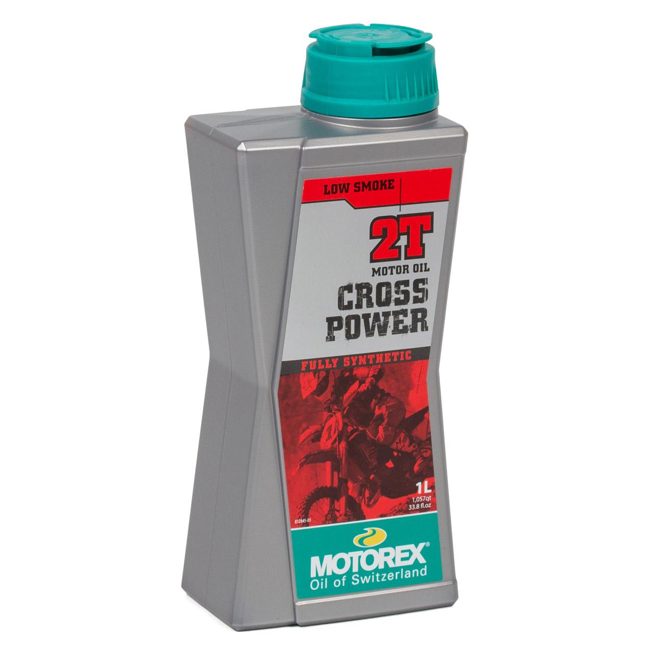 MOTOREX Cross Power 2T LOW SMOKE Motoröl API TC JASO FD ISO-L-EGD - 4L 4 Liter