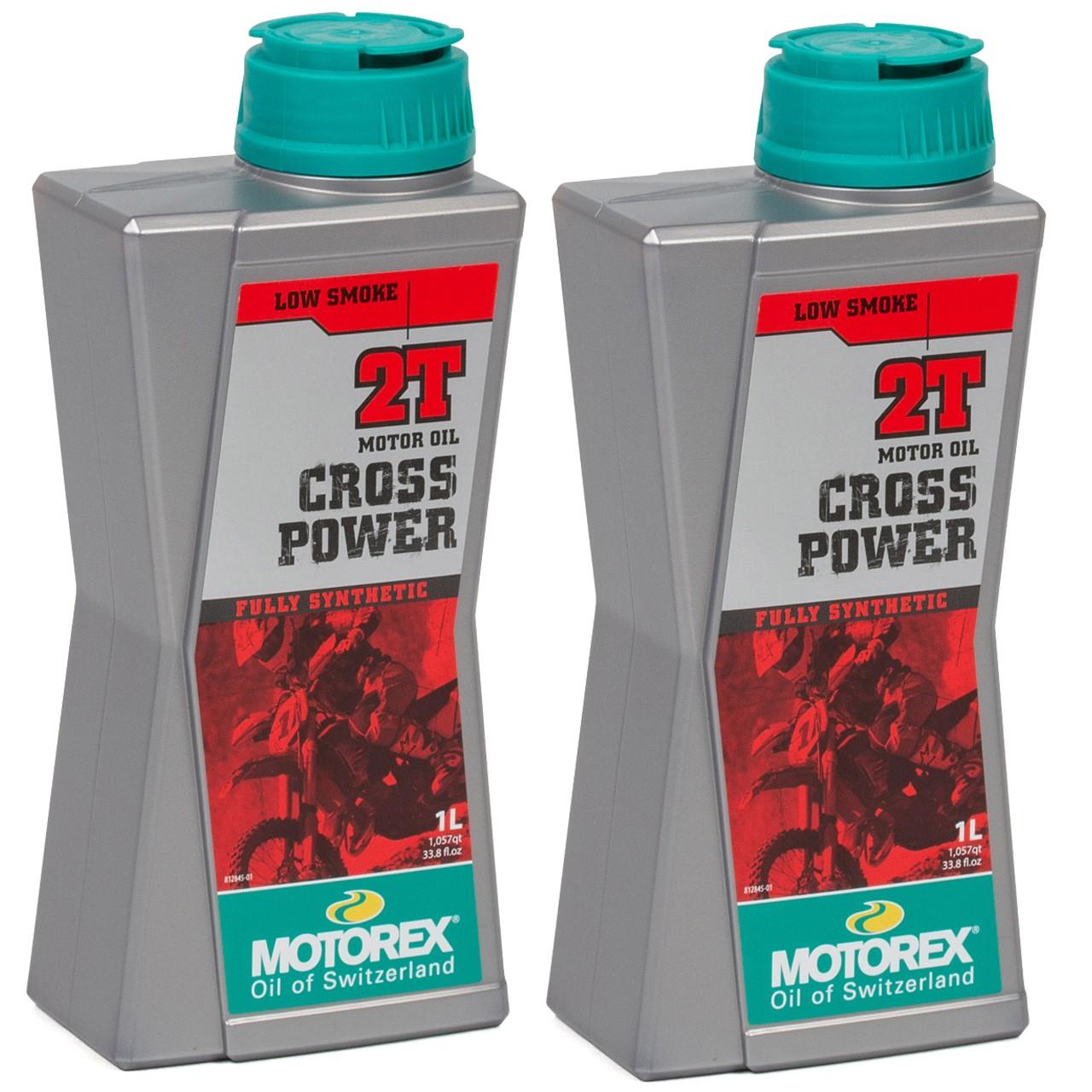 MOTOREX Cross Power 2T LOW SMOKE Motoröl API TC JASO FD ISO-L-EGD - 2L 2 Liter