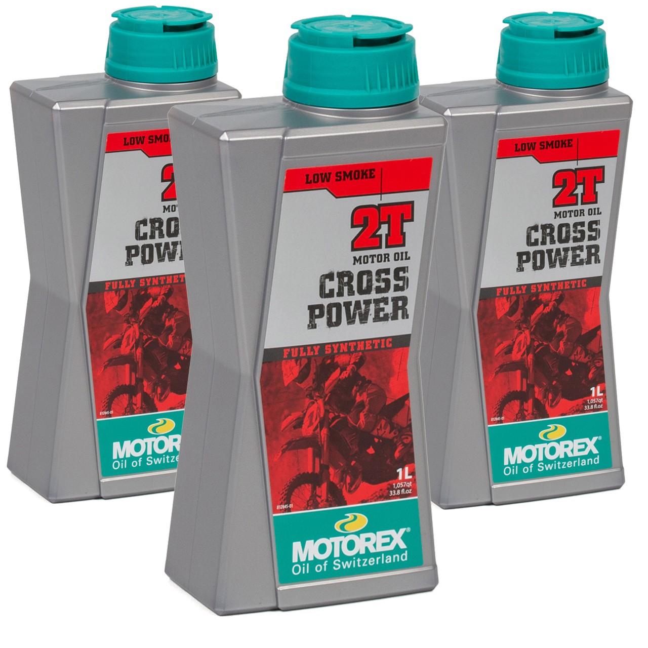 MOTOREX Cross Power 2T LOW SMOKE Motoröl API TC JASO FD ISO-L-EGD - 3L 3 Liter