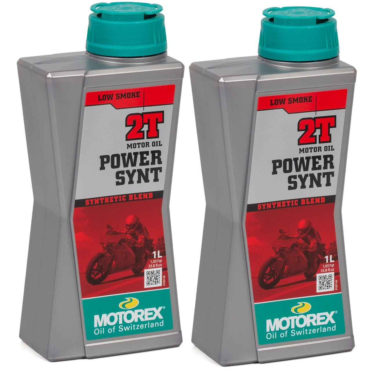 MOTOREX Power Synt 2T LOW SMOKE Motoröl API TC JASO FD ISO-L-EGD - 2L 2 Liter