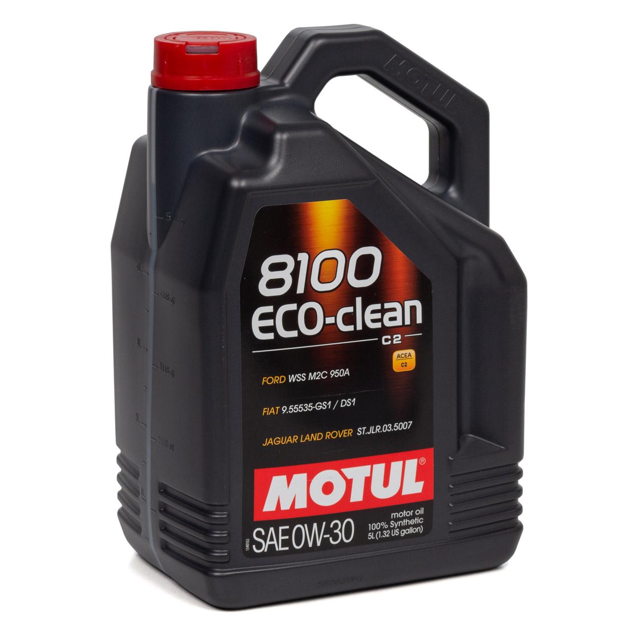 MOTUL 8100 ECO-Clean Motoröl Öl 0W30 ACEA C2 FORD WSS-M2C950-A - 10L 10 Liter
