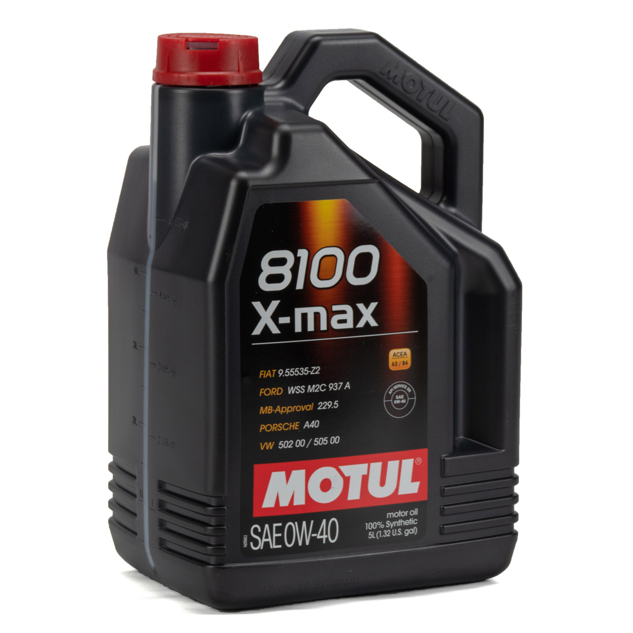MOTUL 8100 X-max Motoröl Öl 0W40 FORD WSS M2C 937A VW 502.00/505.00 - 5 Liter