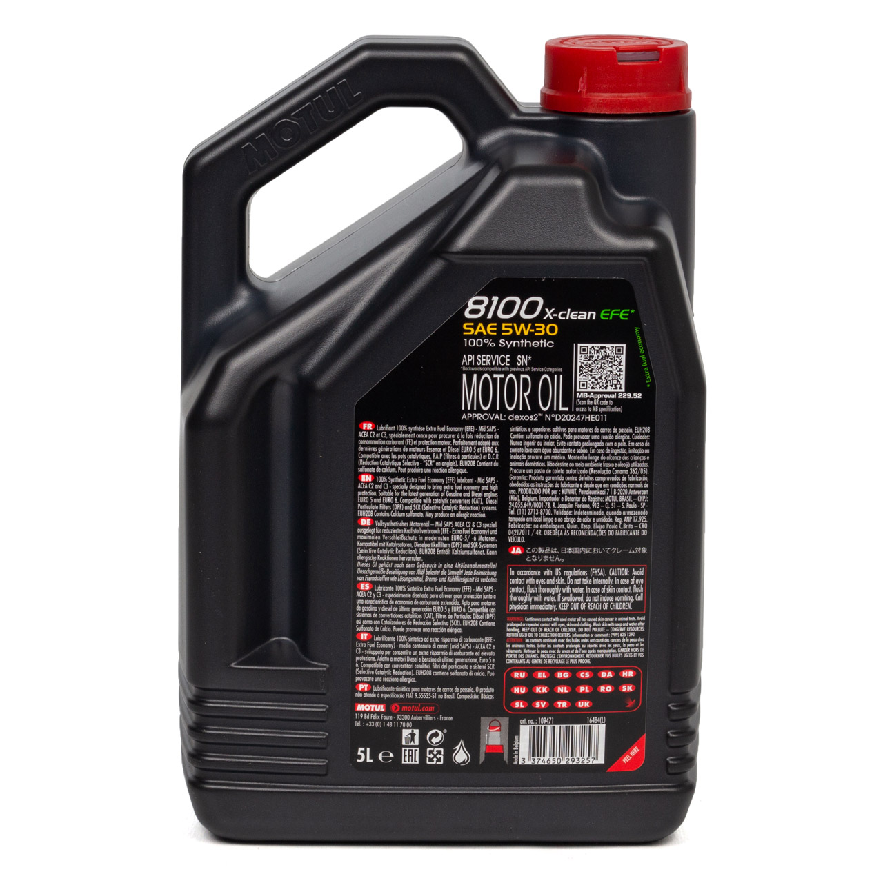 MOTUL 8100 X-Clean EFE Motoröl Öl 5W30 dexos2 VW 505.00/505.01 - 5L 5 Liter