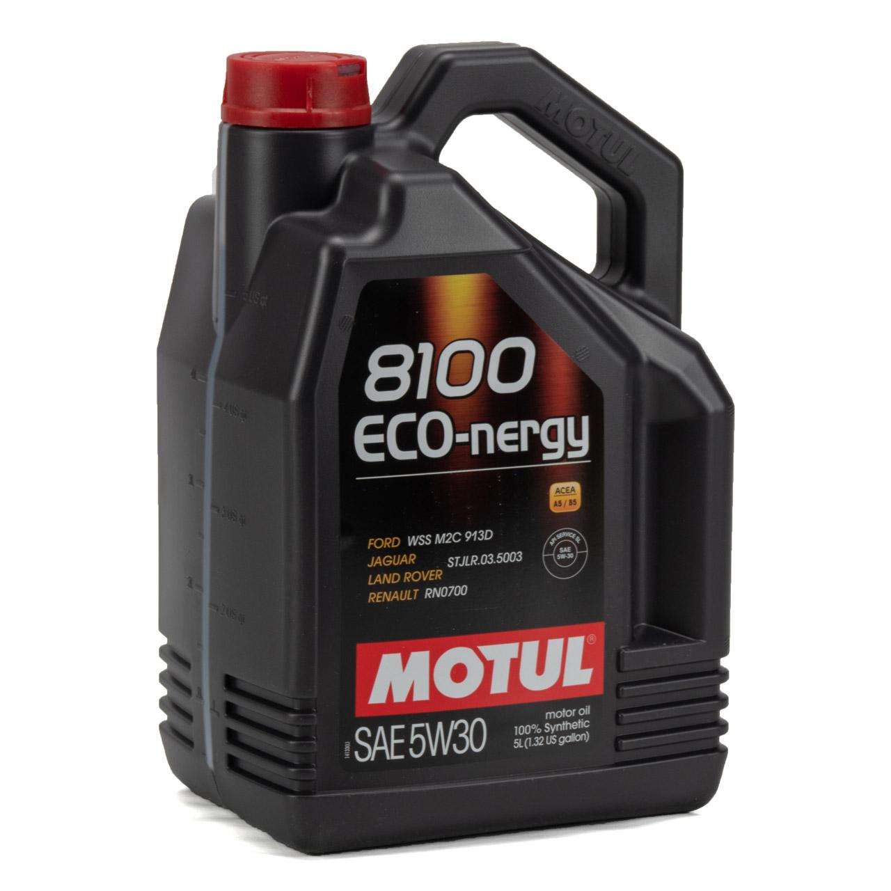 MOTUL 8100 ECO-nergy Motoröl Öl 5W30 FORD WSS M2C 913D RENAULT RN0700 - 10 Liter