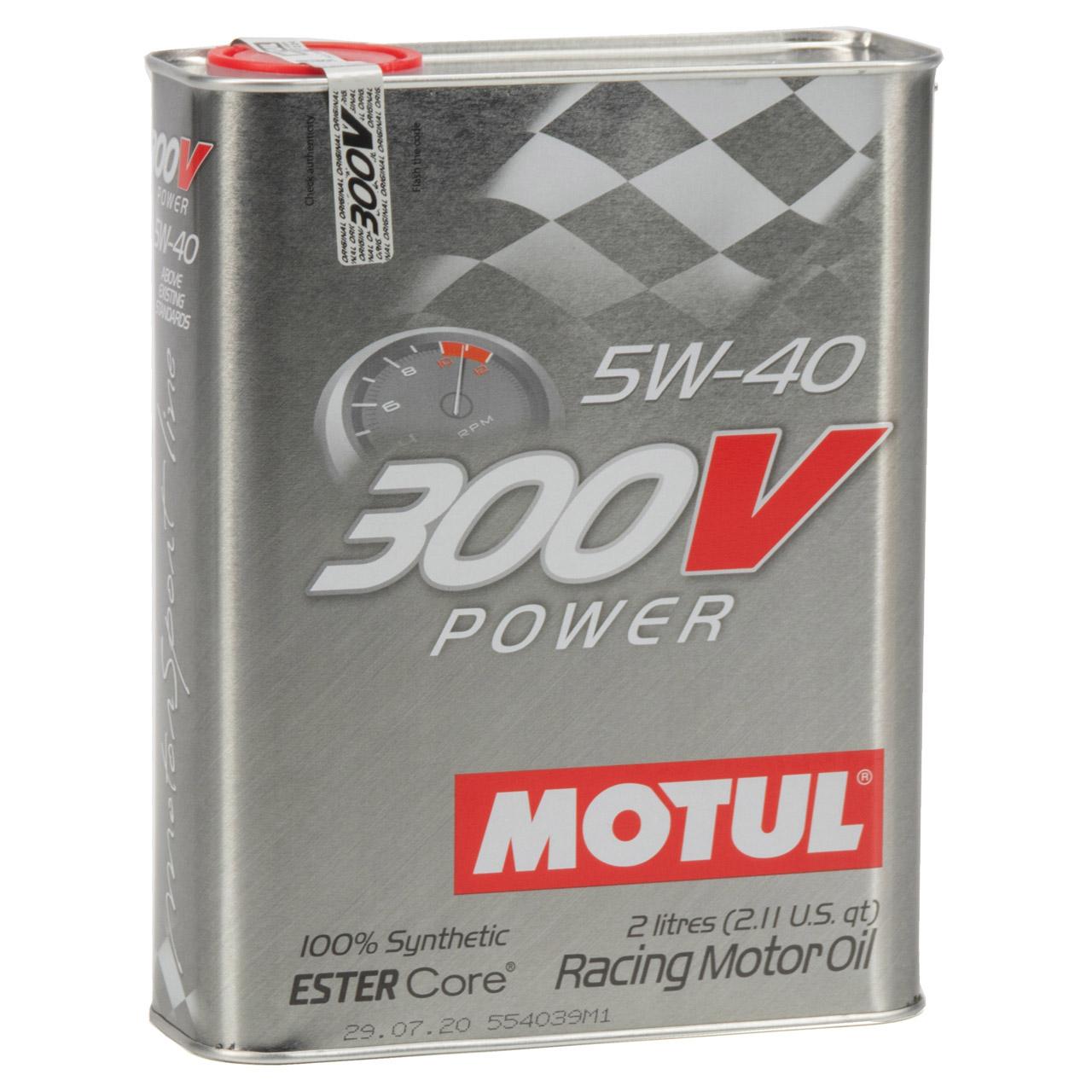 MOTUL 300V POWER RACING Motoröl Öl 5W40 100% Synthetic Ester Core - 8L 8 Liter
