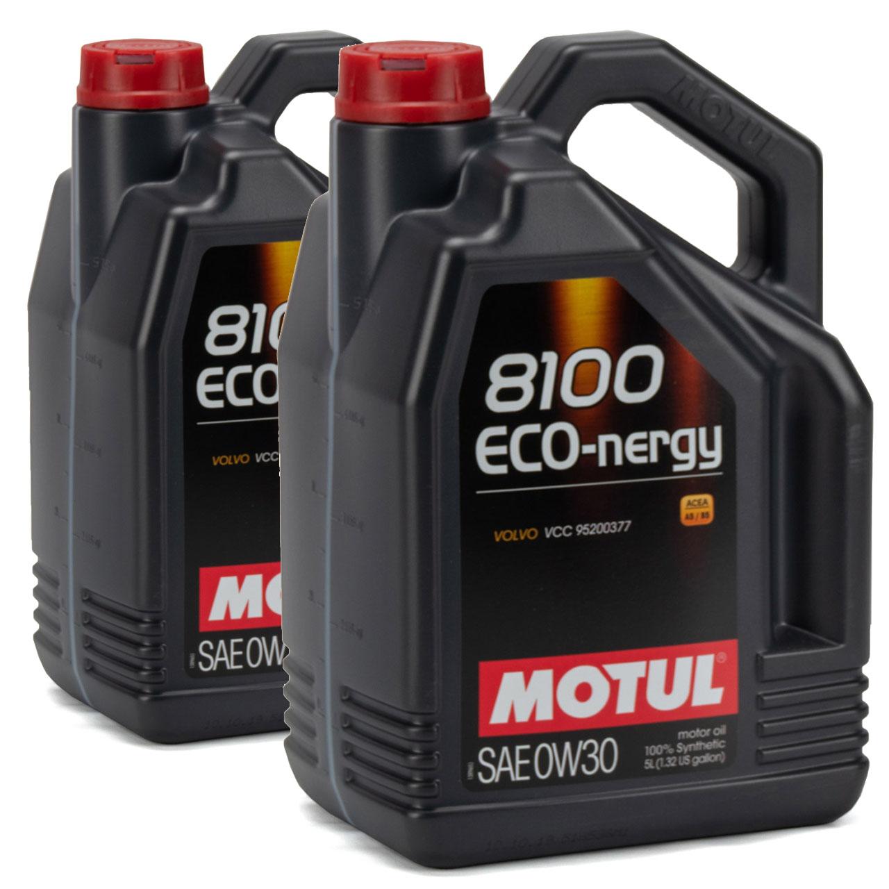 MOTUL 8100 ECO-nergy Motoröl Öl 0W30 ACEA A5/B5 VOLVO VCC95200377 - 10L 10 Liter