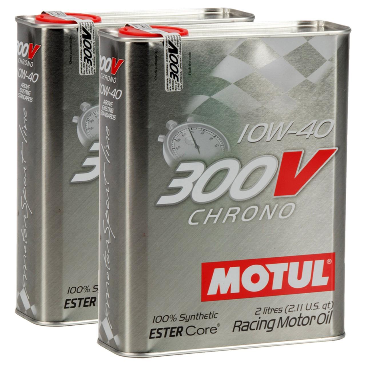 MOTUL 300V CHRONO Motoröl Öl 10W40 100% Synthetic Ester Core - 4L 4 Liter
