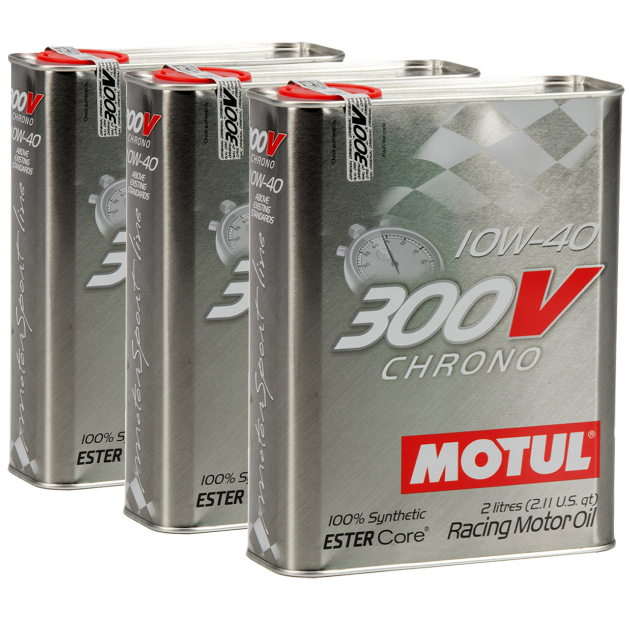 MOTUL 300V CHRONO Motoröl Öl 10W40 100% Synthetic Ester Core - 6L 6 Liter