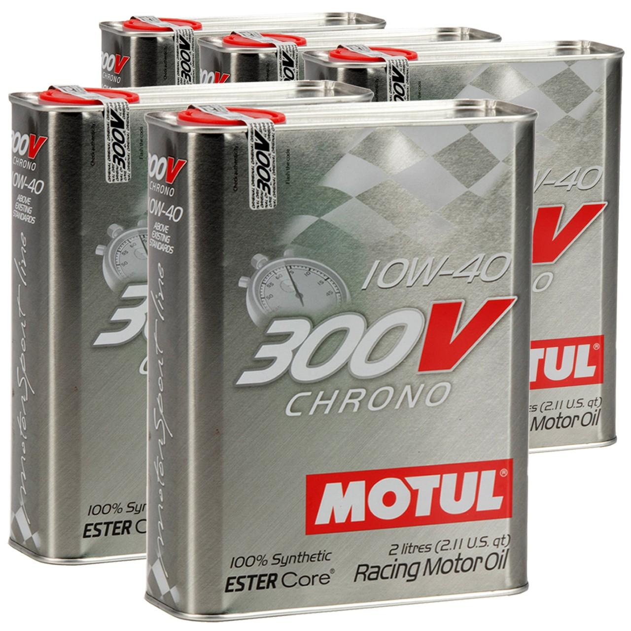 MOTUL 300V CHRONO Motoröl Öl 10W40 100% Synthetic Ester Core - 10L 10 Liter
