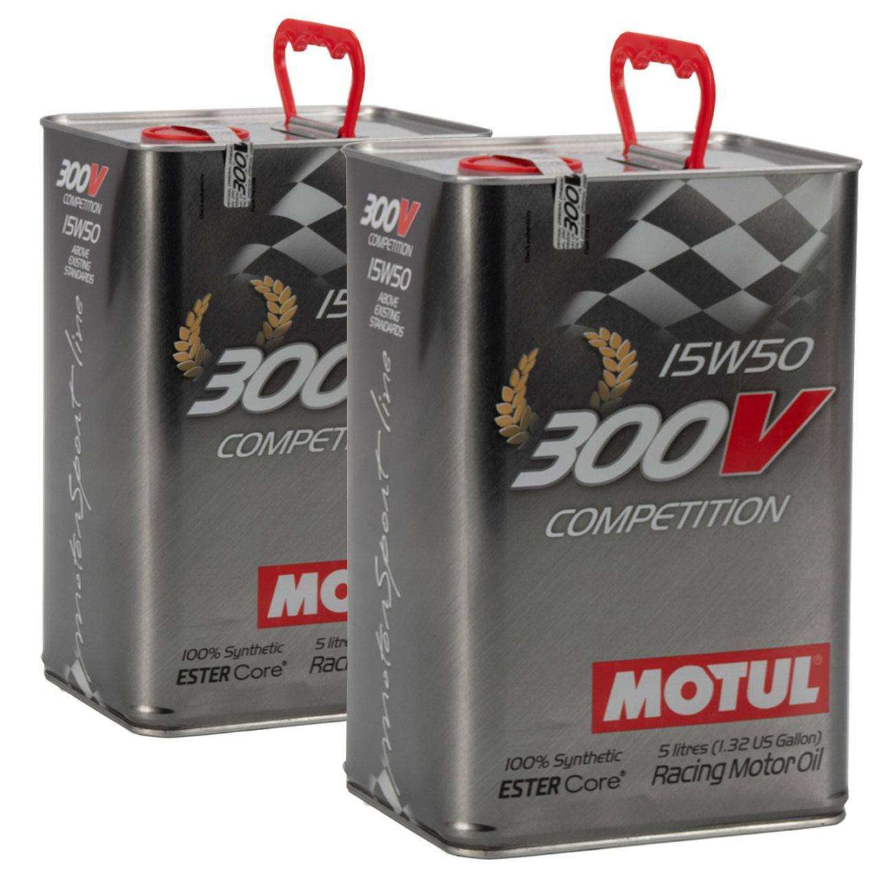 MOTUL 300 V Competition ESTER Core RACING Motoröl Öl 15W-50 15W50 - 10L 10 Liter