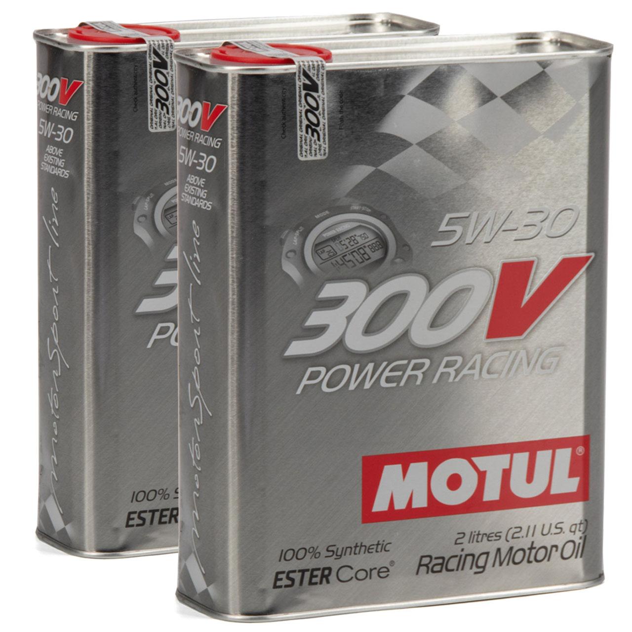 MOTUL 300V POWER RACING Motoröl Öl 5W30 100% Synthetic Ester Core - 4L 4 Liter