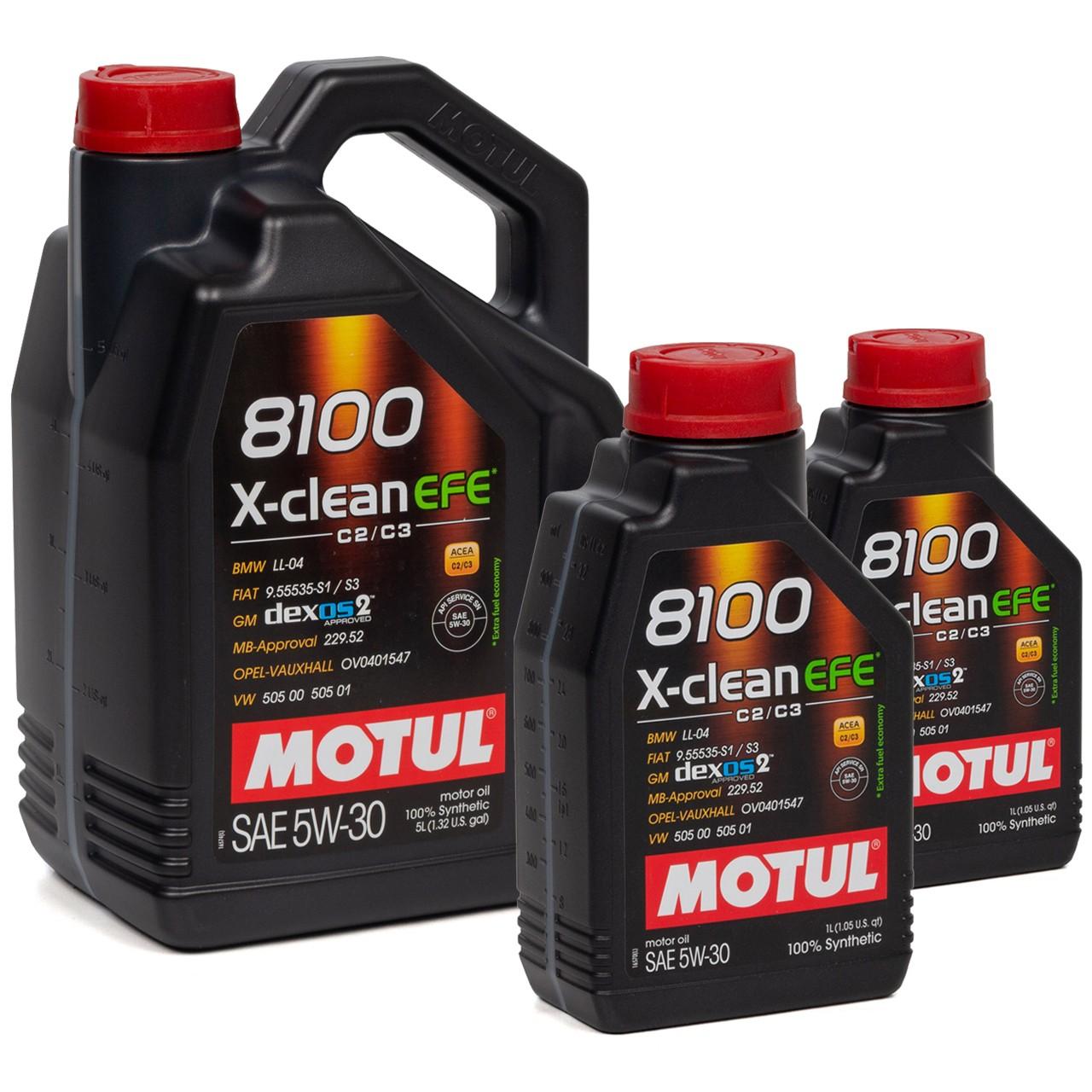 MOTUL 8100 X-Clean EFE Motoröl Öl 5W30 dexos2 VW 505.00/505.01 - 7L 7 Liter
