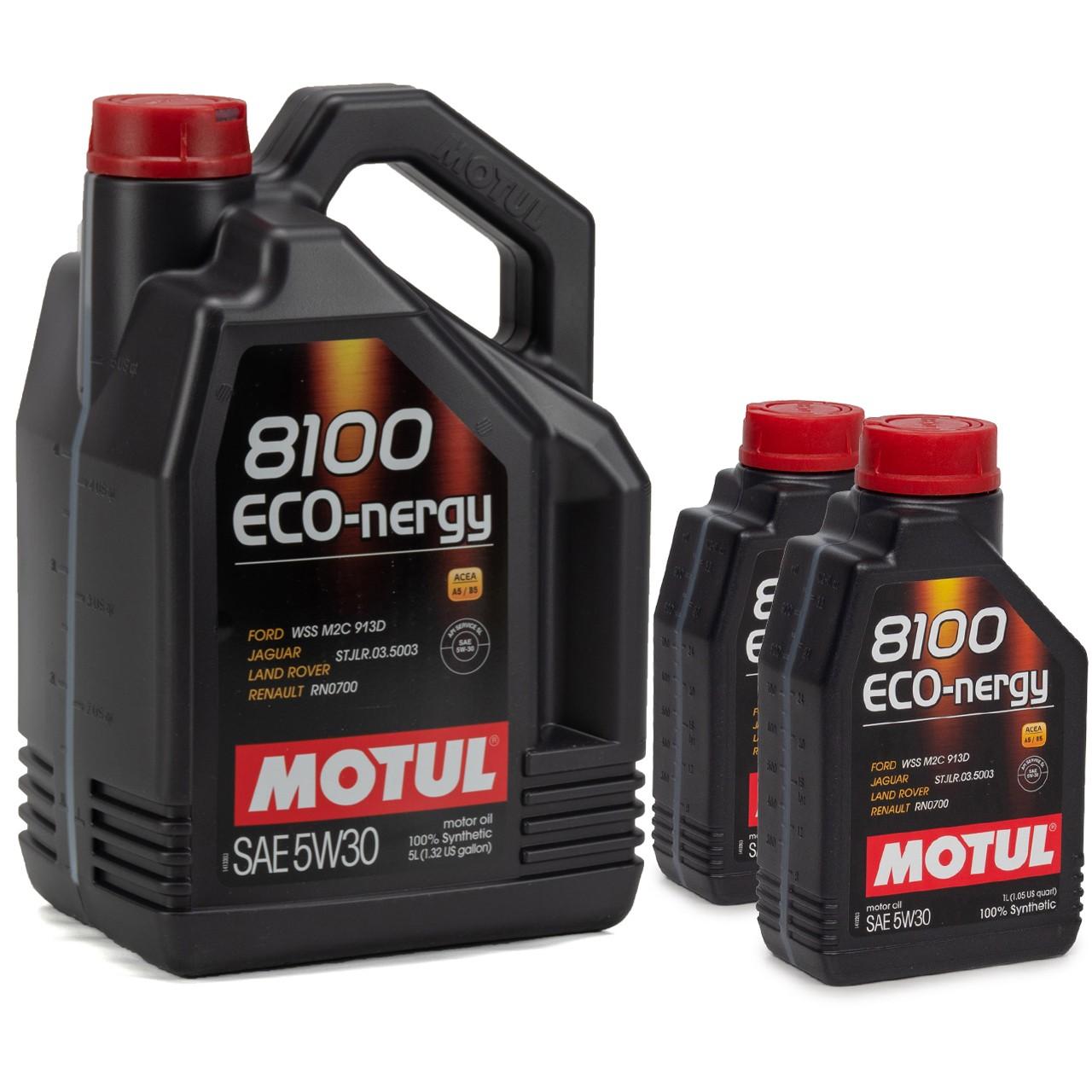 MOTUL 8100 ECO-nergy Motoröl Öl 5W30 FORD WSS M2C 913D RENAULT RN0700 - 7 Liter