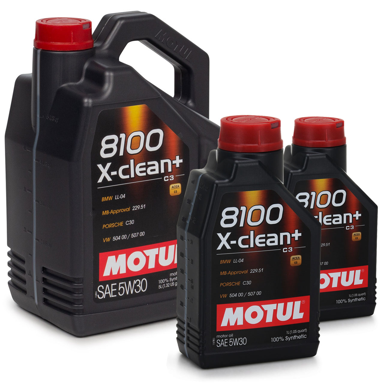 MOTUL 8100 X-clean+ C3 Motoröl Öl 5W30 BMW LL04 MB 229.51 VW 504/507.00 7 Liter