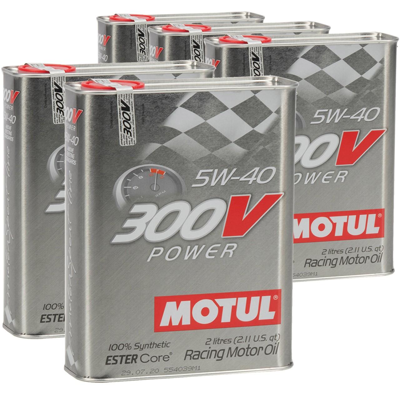 MOTUL 300V POWER RACING Motoröl Öl 5W40 100% Synthetic Ester Core - 10L 10 Liter