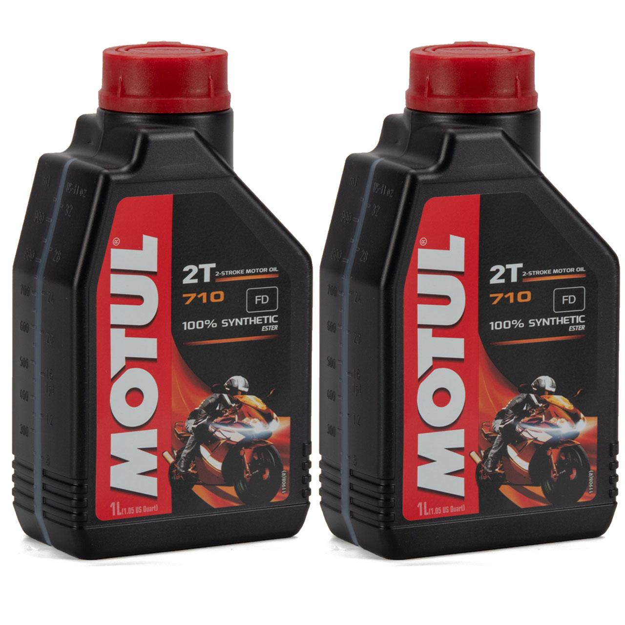 MOTUL 710 2T 2-TAKT FD ESTER Motoröl Öl API TC JASO FD ISO-L-EGD - 2L 2 Liter