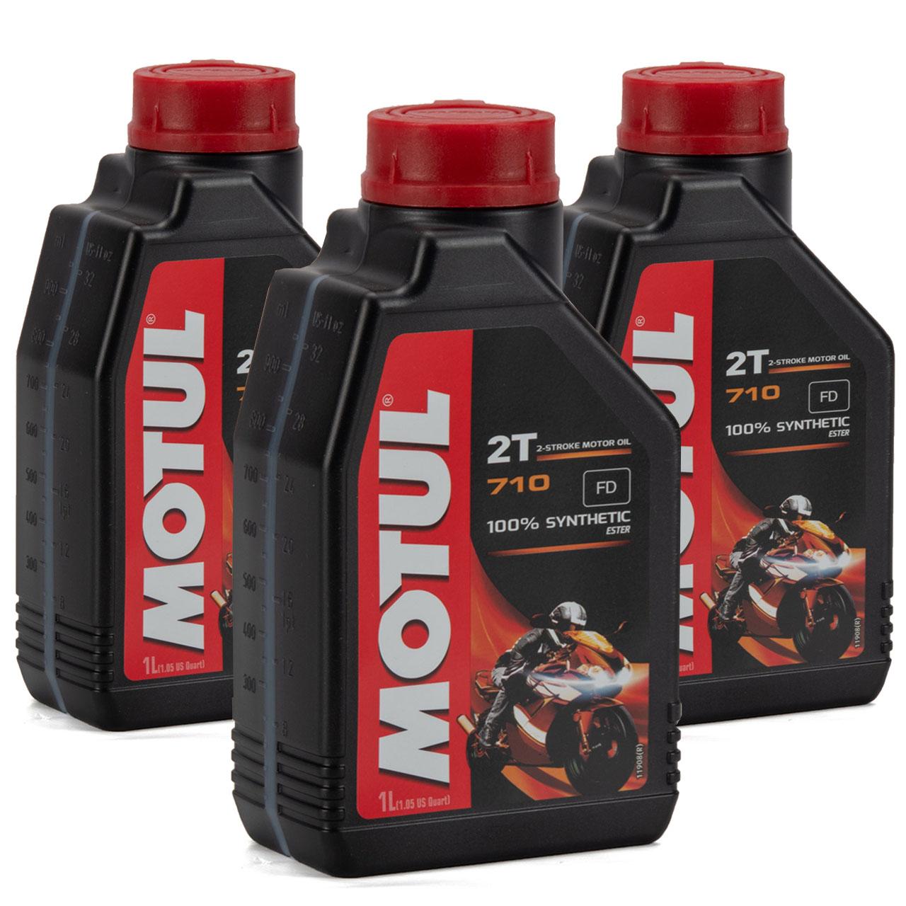 MOTUL 710 2T 2-TAKT FD ESTER Motoröl Öl API TC JASO FD ISO-L-EGD - 3L 3 Liter
