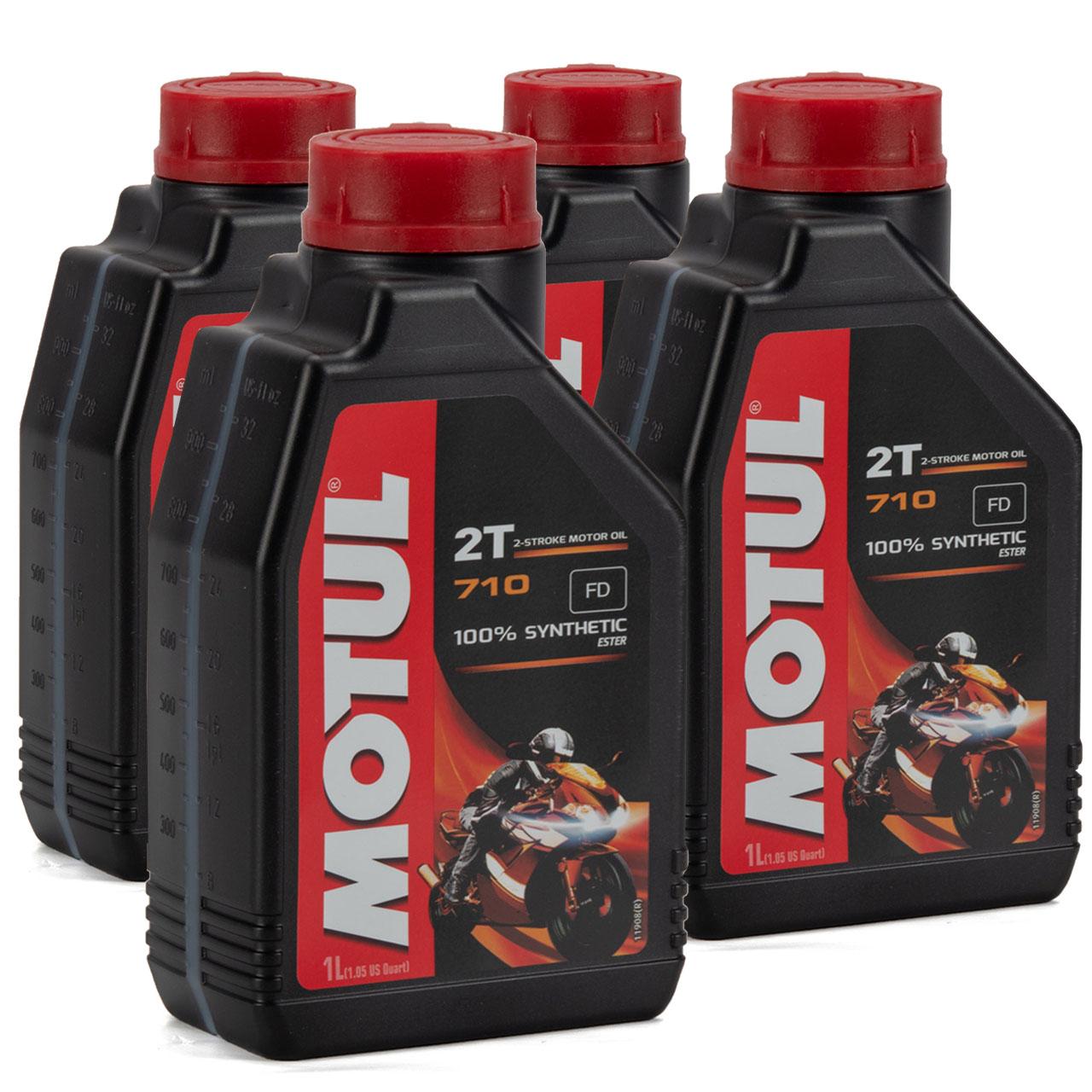 MOTUL 710 2T 2-TAKT FD ESTER Motoröl Öl API TC JASO FD ISO-L-EGD - 4L 4 Liter