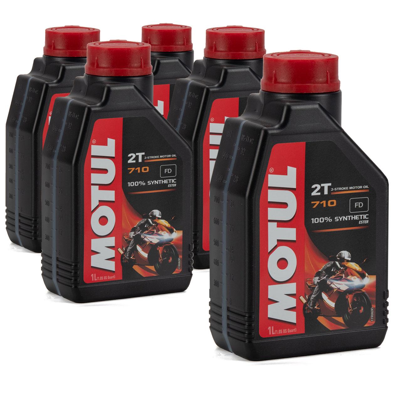 MOTUL 710 2T 2-TAKT FD ESTER Motoröl Öl API TC JASO FD ISO-L-EGD - 5L 5 Liter