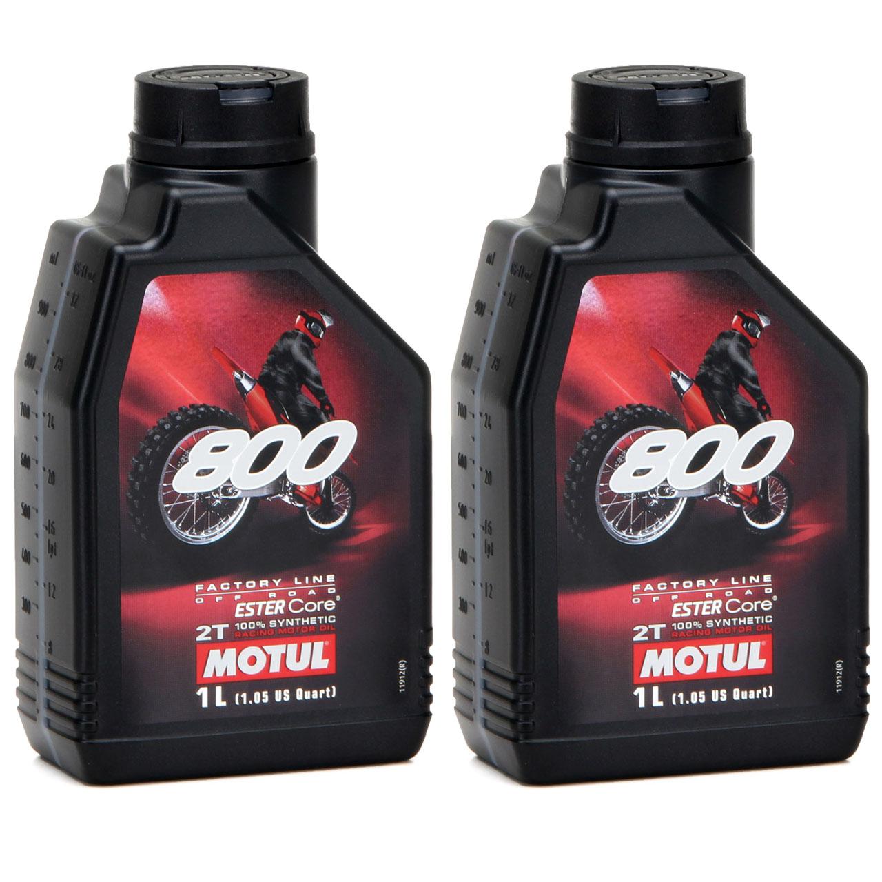 MOTUL 800 2T 2-TAKT Motoröl Öl OFF ROAD Factory Line ESTER Core - 2L 2 Liter