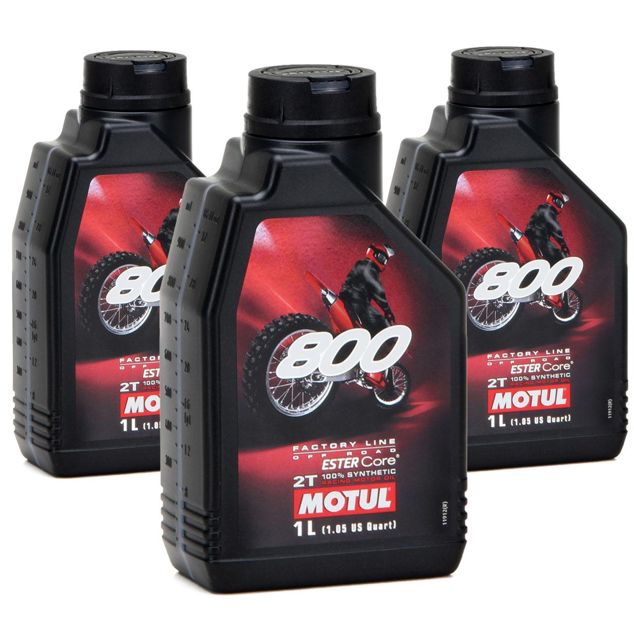 MOTUL 800 2T 2-TAKT Motoröl Öl OFF ROAD Factory Line ESTER Core - 3L 3 Liter