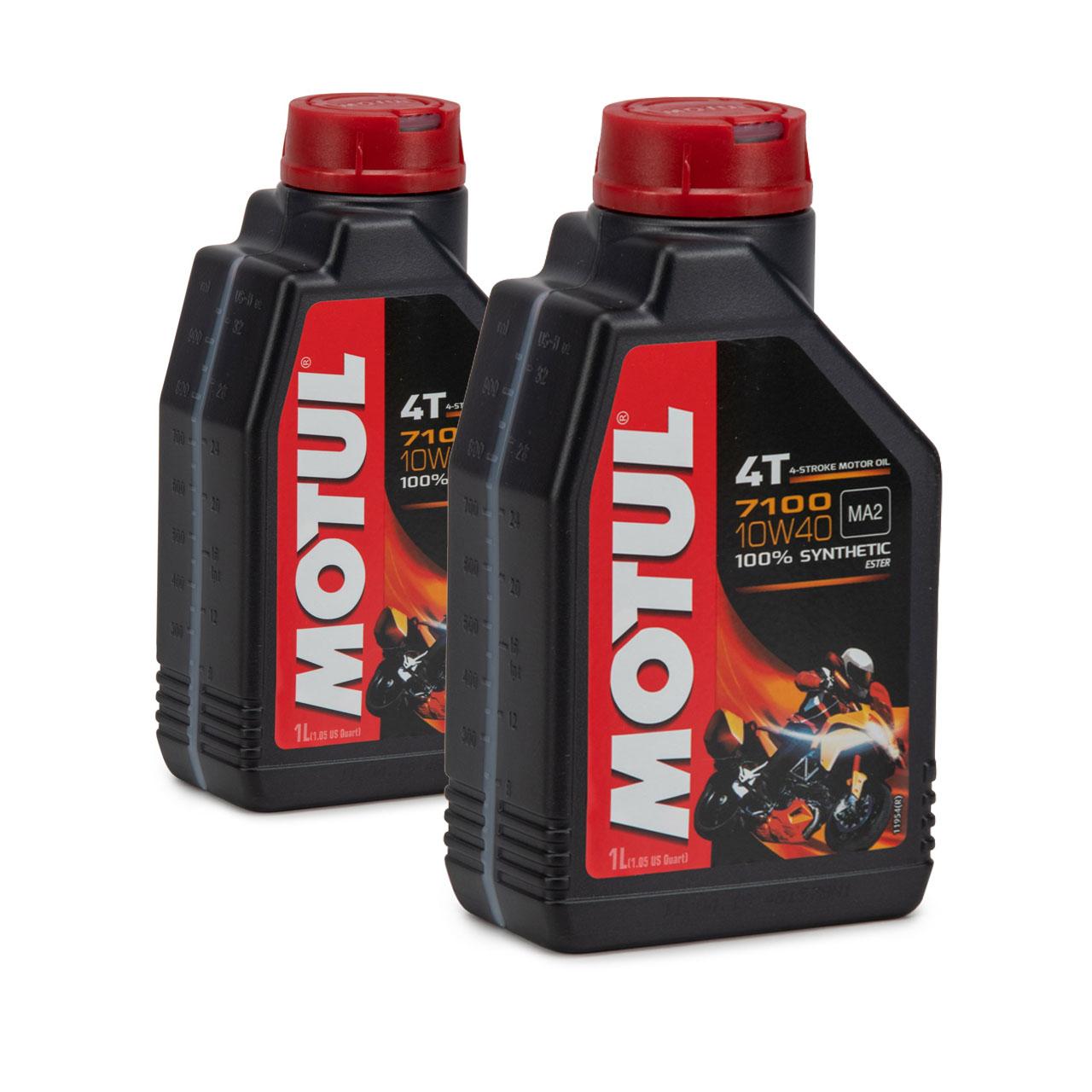 MOTUL 7100 4T 4-TAKT Motoröl ÖL 10W40 Motorrad API SL SM SN MA2 - 2L 2 Liter