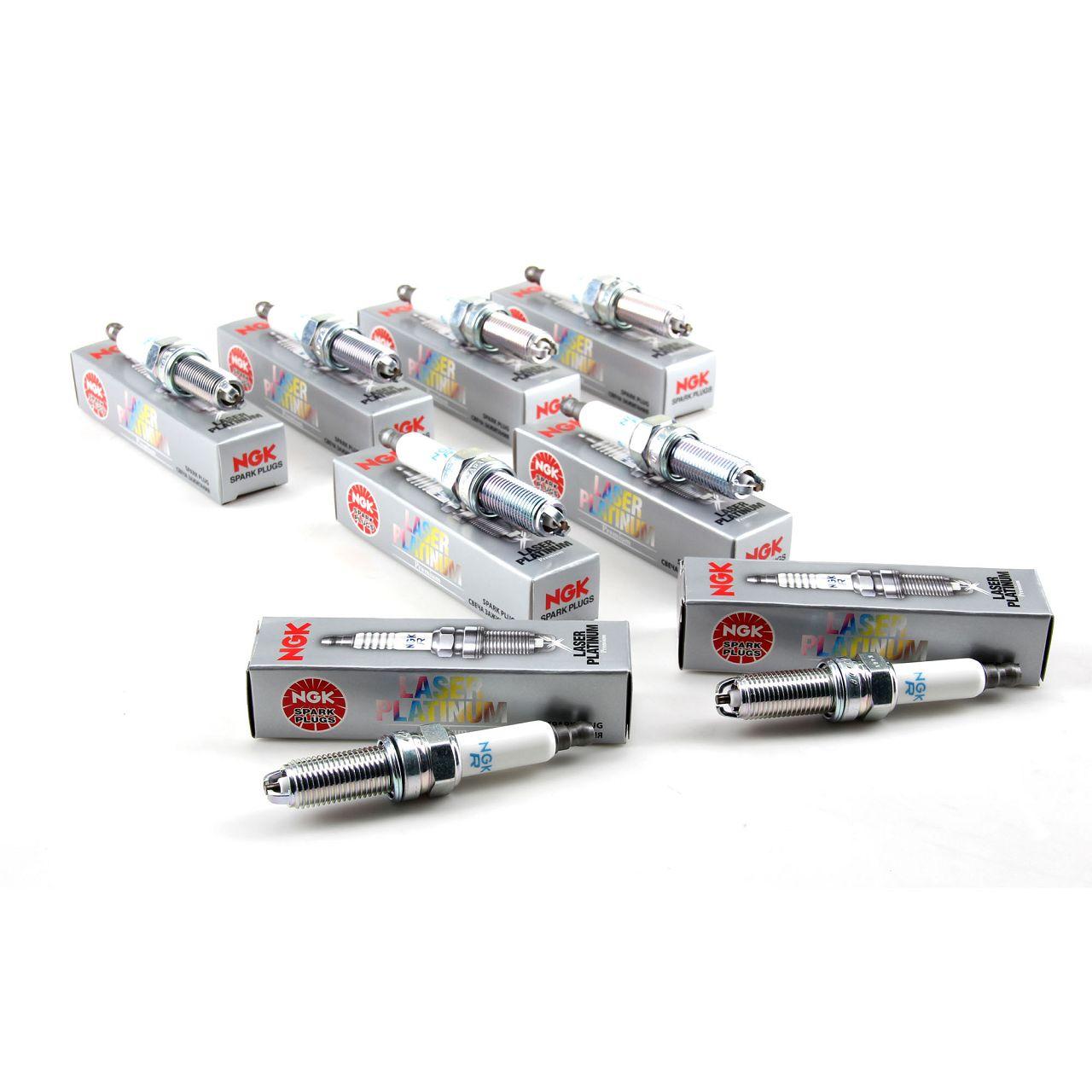 8x NGK Zündkerzen Laser Platinum 4471 LKR8AP für BMW E93 E92 M3 E60 E61 M5