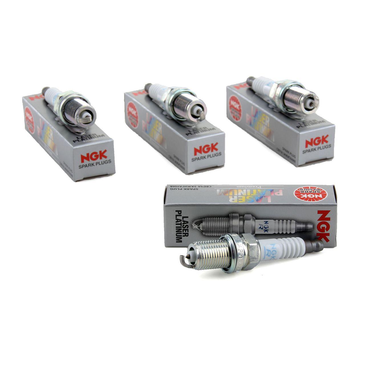4x NGK Zündkerzen Laser Platinum 6458 PFR6Q für AUDI SEAT SKODA VW 10100063AA