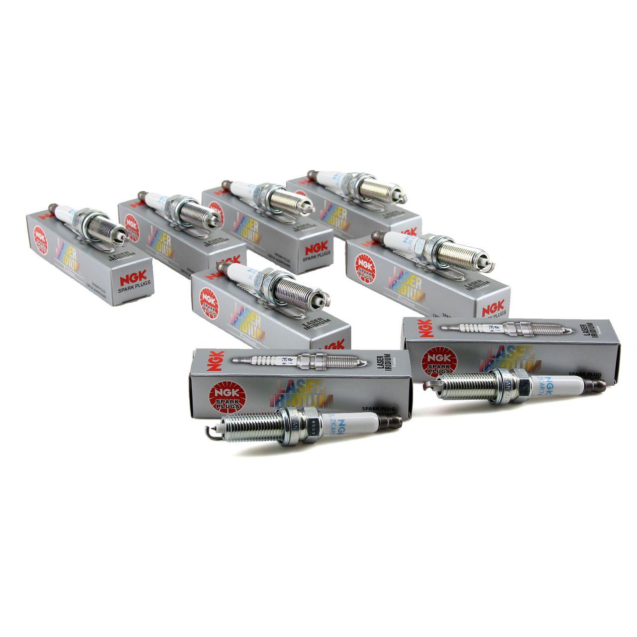 8x NGK Zündkerzen Set Laser Iridium 6043 ILZKAR7A-10 für Mercedes 63 AMG Modelle