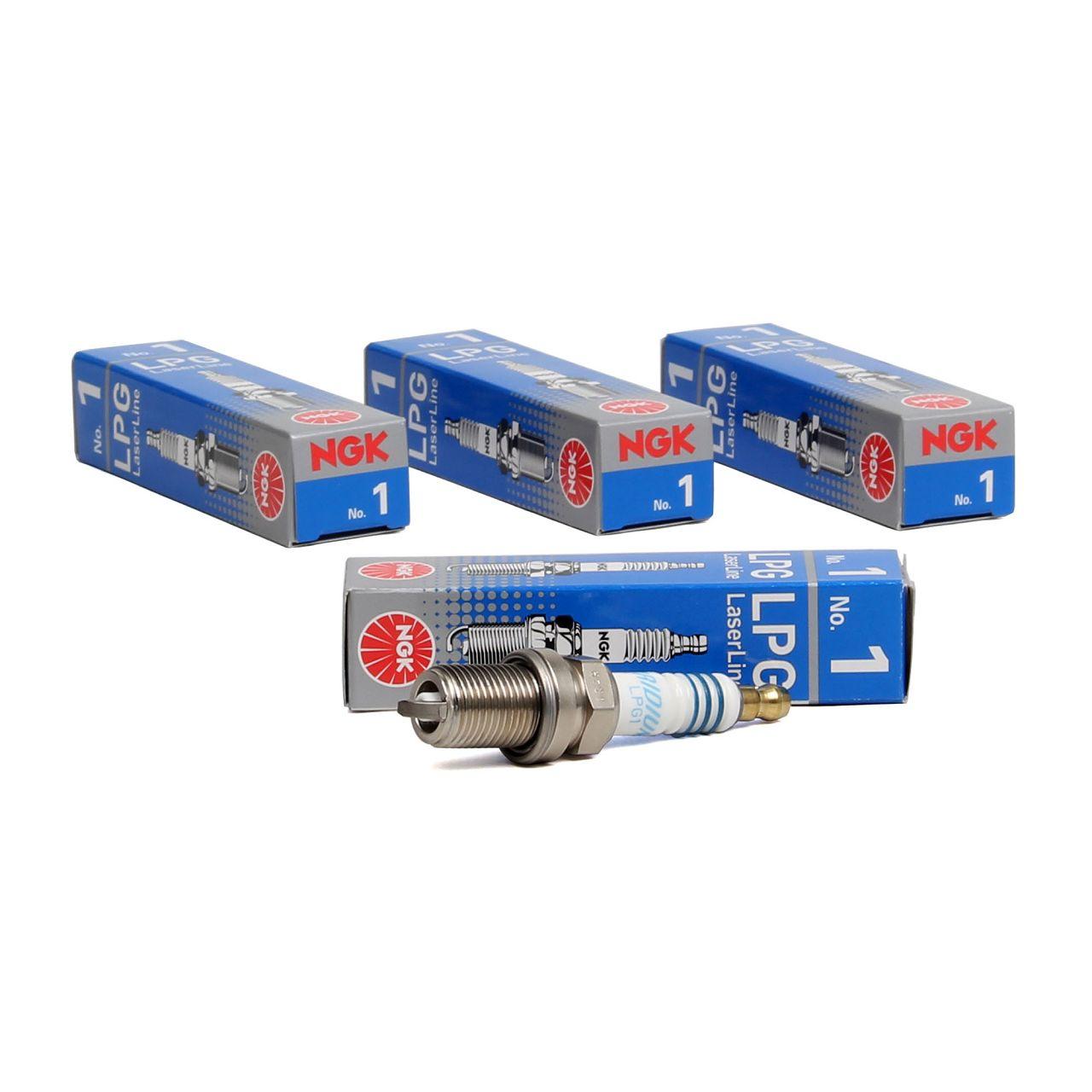 4x NGK 1496 LL1 LPG1 LPG LaserLine 1 Zündkerze für LPG/CNG Gasbetrieb Flüssiggas