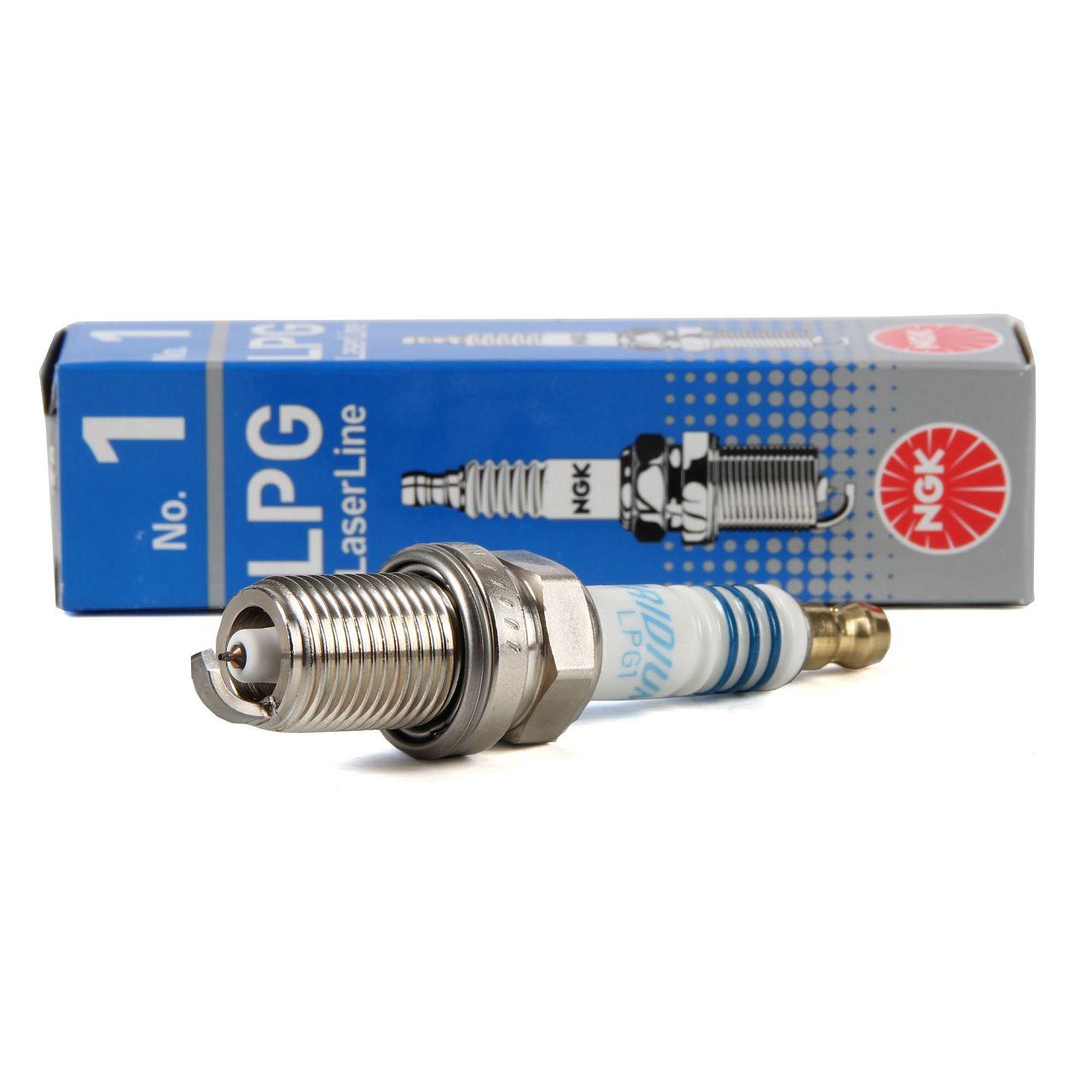 NGK 1496 LL1 LPG1 LPG LaserLine 1 Zündkerze für LPG / CNG Gasbetrieb Flüssiggas