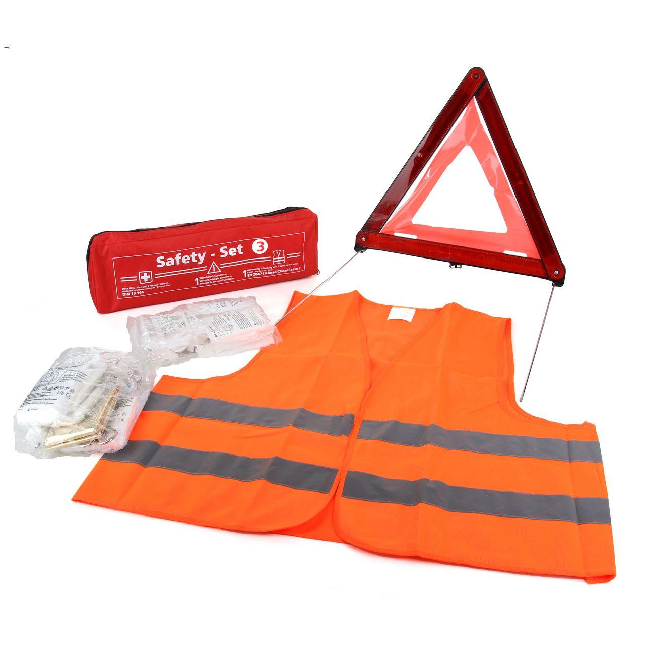 Pannenset Notfall Erste Hilfe Warndreieck Warnweste Verbandstasche MHD 09.2024