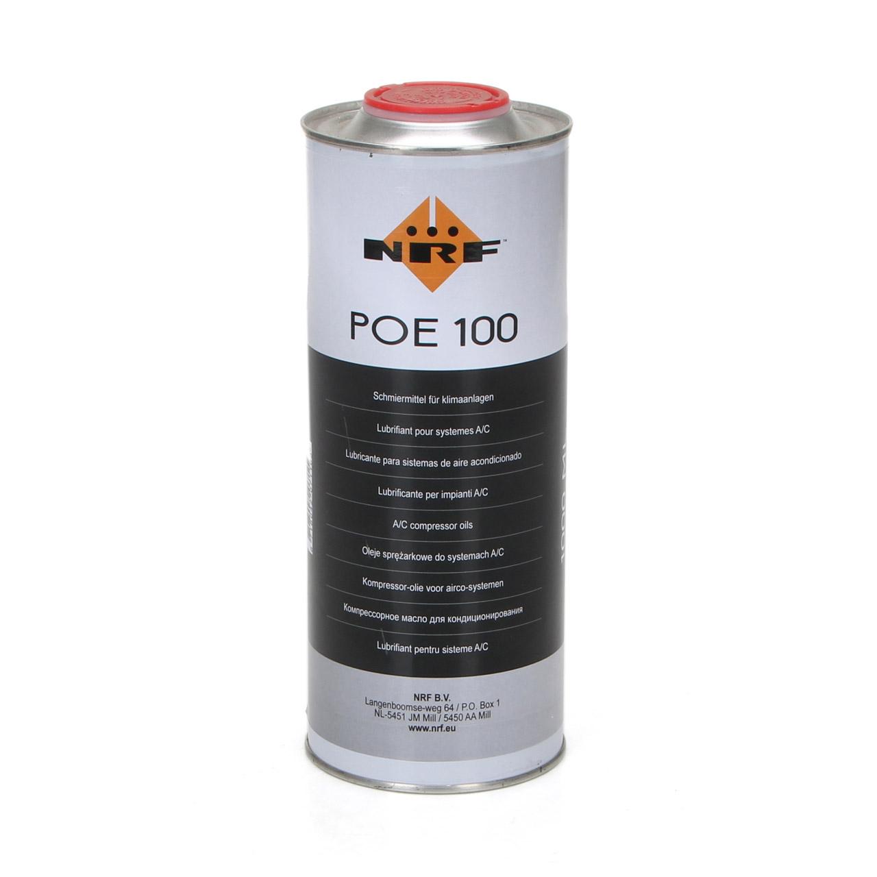 NRF 38819 Kompressor Öl Kompressoröl Klimaanlagenöl POE 100 1000ml 1 Liter