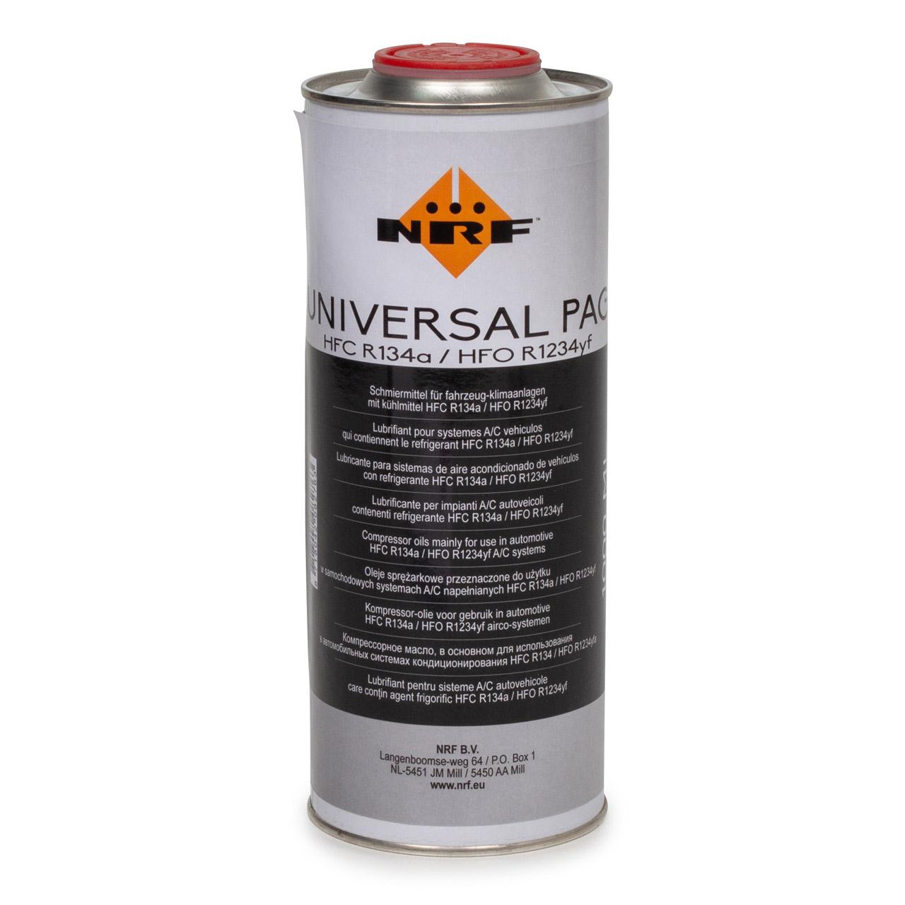 NRF 38832 Kompressor Öl Kompressoröl PAG 46 HFC R134a HFO R1234yf 1000ml 1 Liter