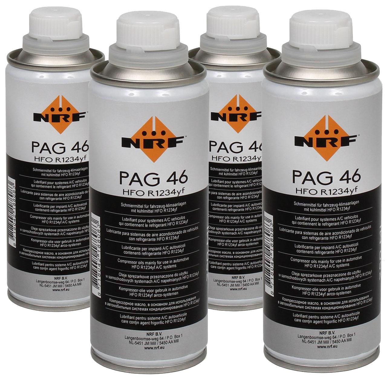 NRF 38837 Kompressor Öl Kompressoröl Klimaanlagenöl PAG 46 HFO R1234yf 1000ml