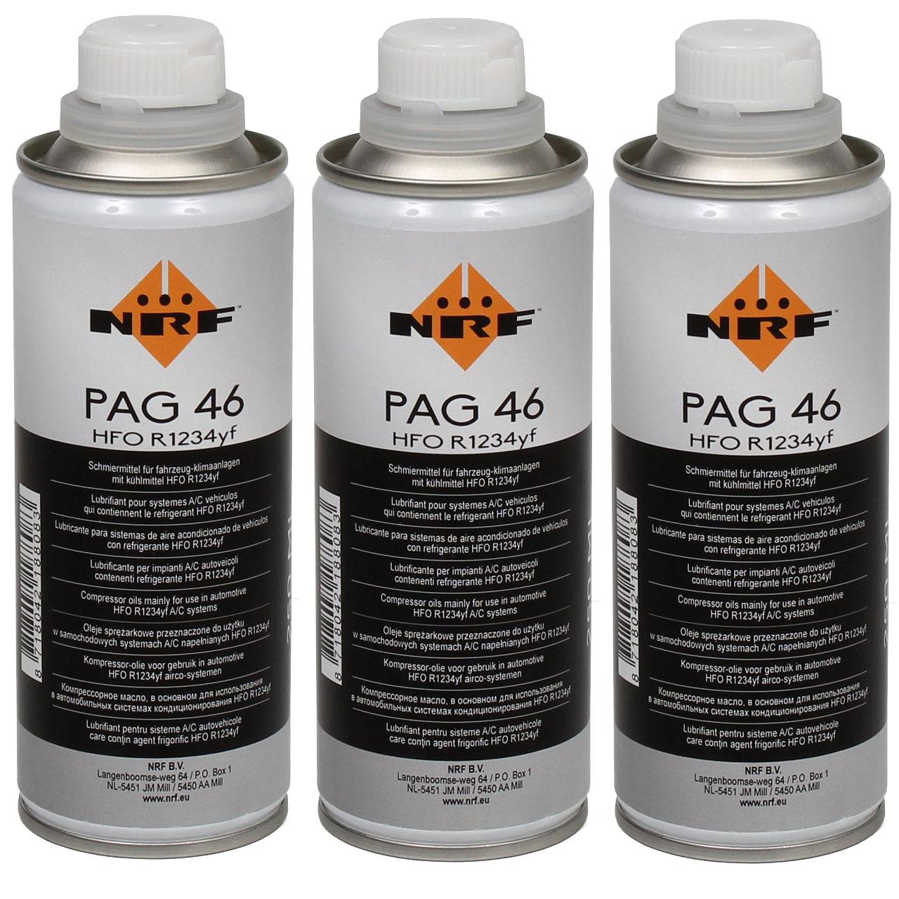 NRF 38837 Kompressor Öl Kompressoröl Klimaanlagenöl PAG 46 HFO R1234yf 750ml