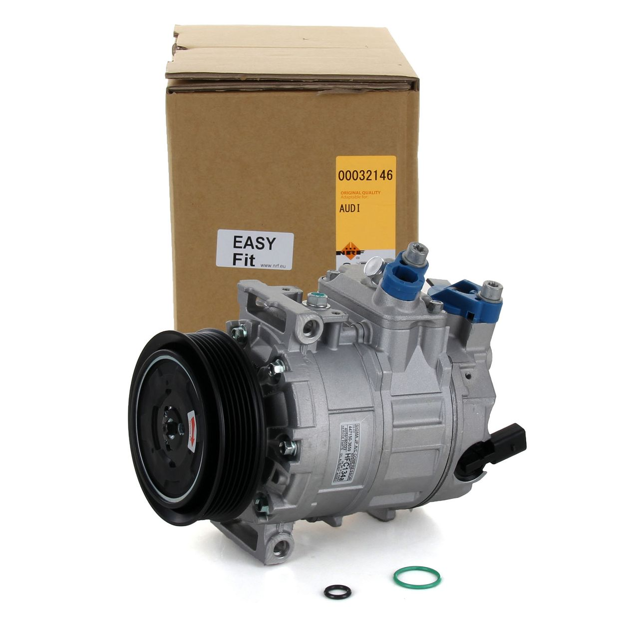 NRF 32146 Kompressor Klimakompressor Klimaanlage EASY FIT für AUDI SEAT SKODA VW