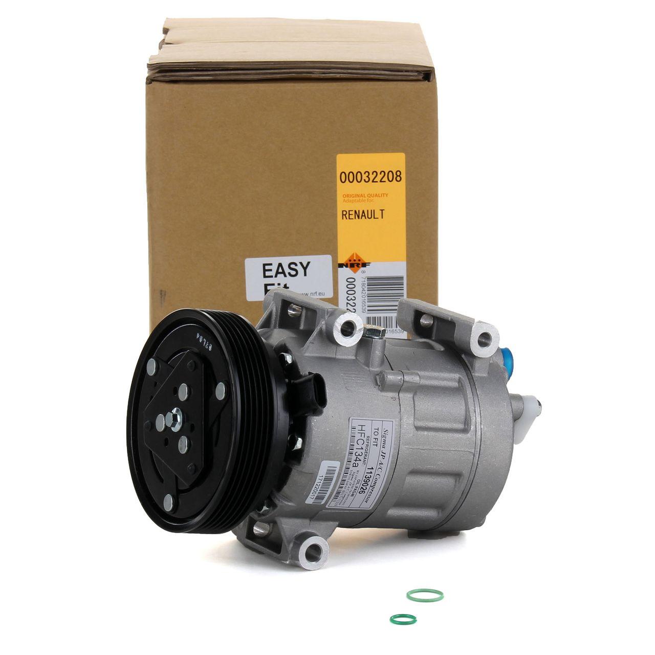 NRF 32208 Kompressor Klimaanlage EASY FIT für NISSAN QASHQAI RENAULT MEGANE