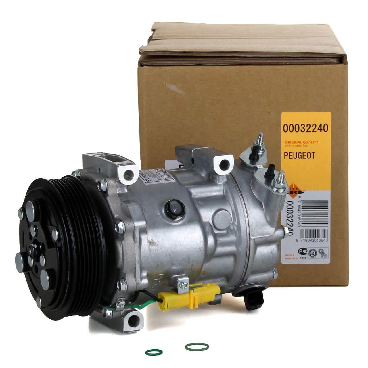 NRF 32240 Kompressor Klimaanlage EASY FIT für CITROEN FIAT LANCIA PEUGEOT