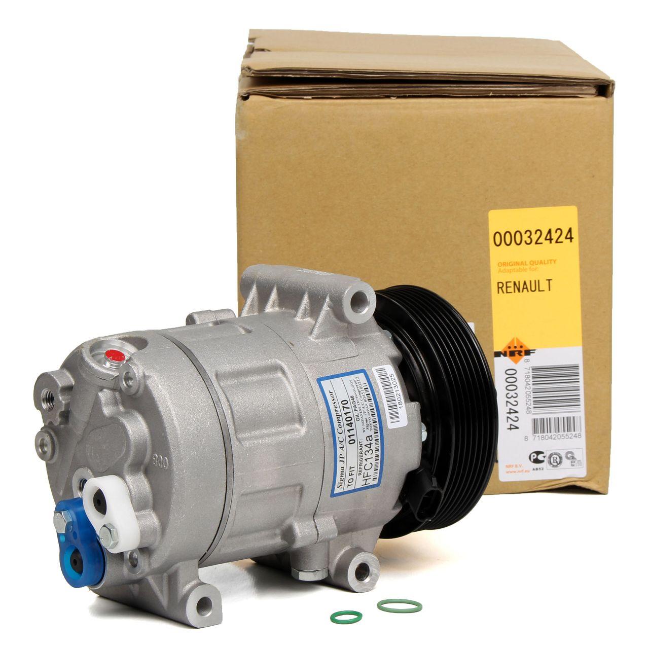 NRF 32424 Kompressor Klimaanlage EASY FIT für RENAULT MEGANE II SCENIC I II