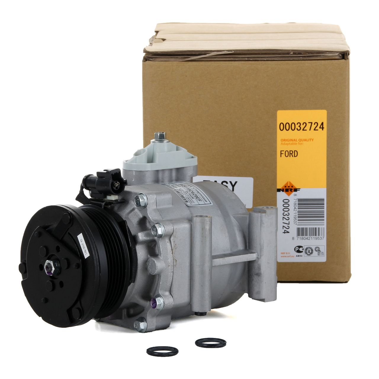 NRF 32724 Kompressor Klimaanlage EASY FIT für FORD FIESTA VI 1.25 1.4/LPG 1.6 Ti