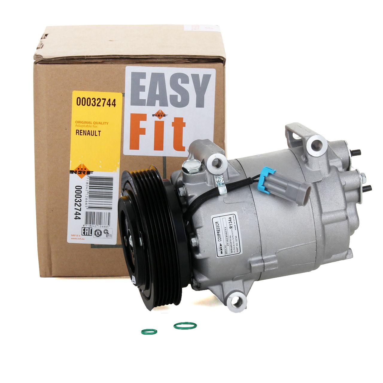 NRF 32744 Kompressor Klimaanlage EASY FIT für RENAULT CLIO 3 KANGOO TWINGO 2