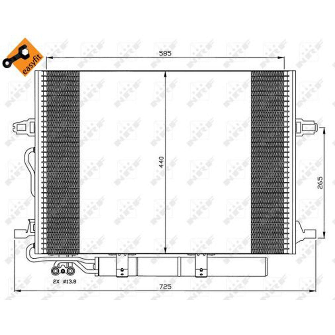 NRF 35517 EASY FIT Kondensator MERCEDES-BENZ CLS C219 E-Klasse W211 S211 VF211 2115000154
